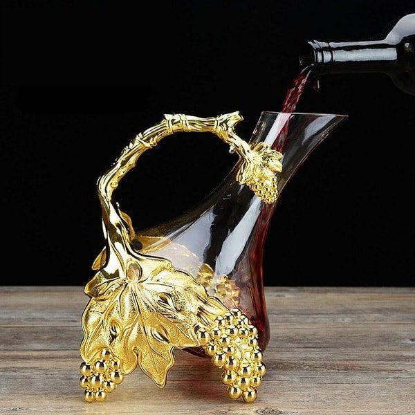 Carafe à décanter ancienne, en verre