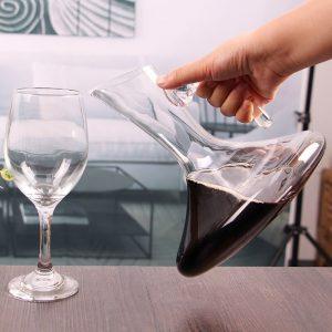 Carafe à décanter vin rouge, avec anse