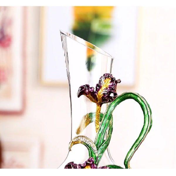 Carafe à vin cristal ancienne, aérateur