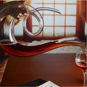 Carafe à vin en cristal design