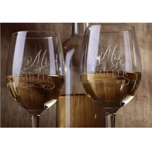 Paire de verre à vin personnalisé