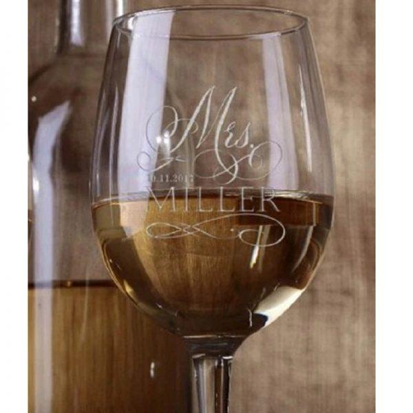 Très beau verre à vin personnalisé