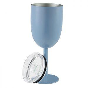 Verre à vin incassable bleu