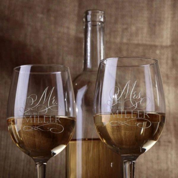 Verre à vin personnalisé (x2)