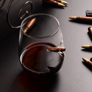 Verre à vin sans pied masculin