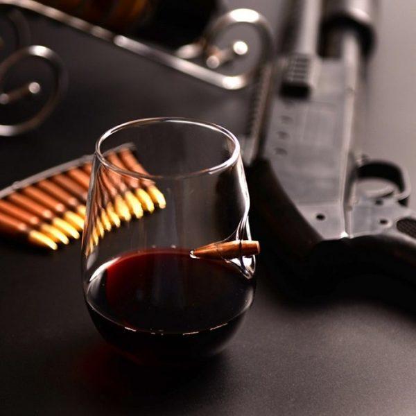 Verre à vin sans pied original avec balle