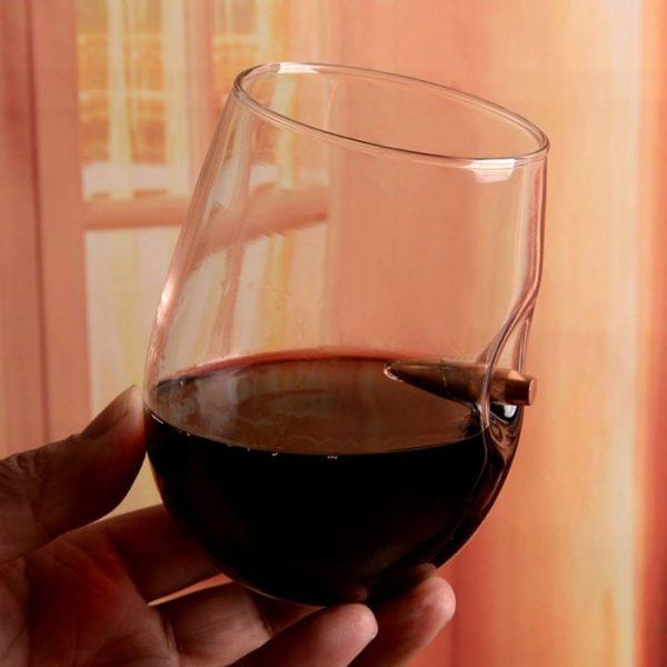 Verre à vin sans pied pour homme