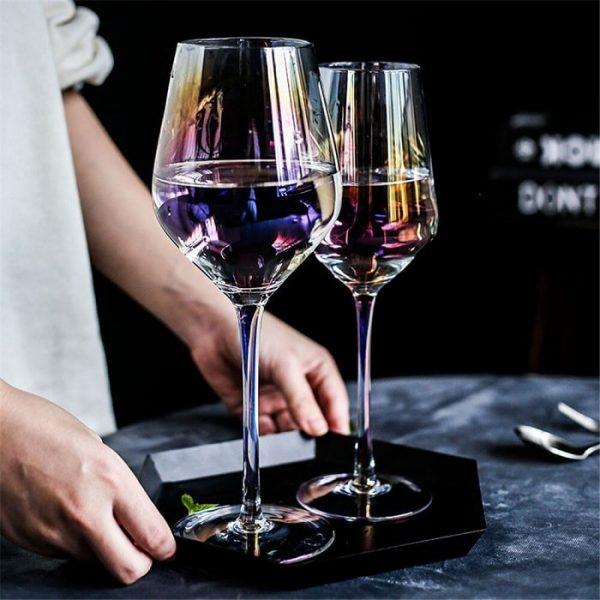 Verre vin dégustation à nuances de couleurs