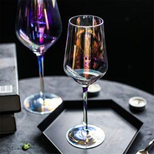 Verre vin dégustation arc en ciel