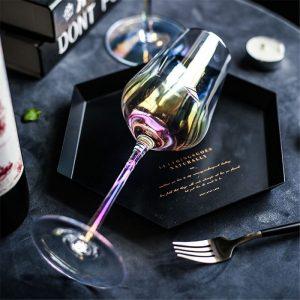 Verre vin dégustation coloré