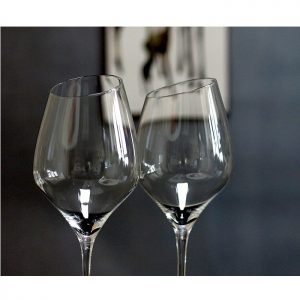 lot de 2 verres à vin design