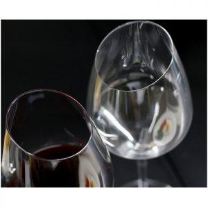lot de 2 verres à vin design oblique
