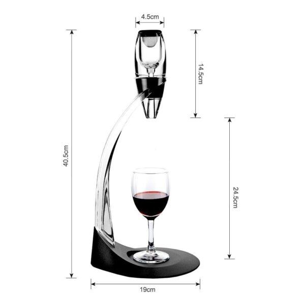 Aérateur a vin noir