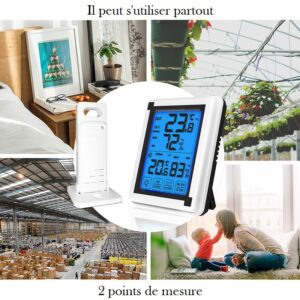Thermometre et hygrometre avec sonde