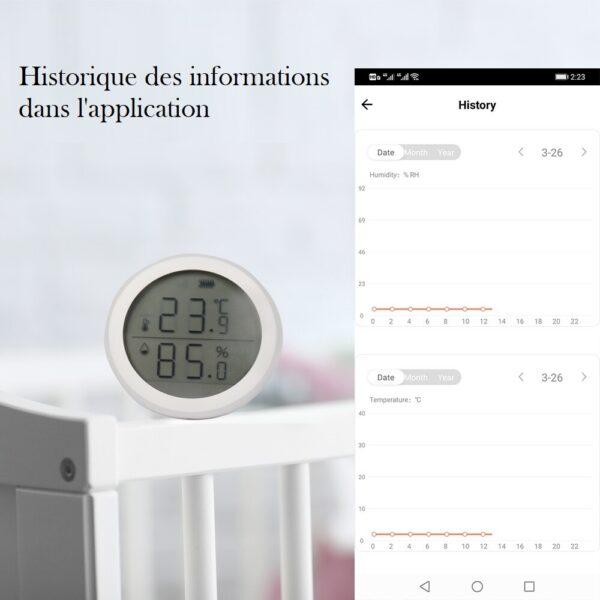 Thermometre et hygrometre connecté en wifi