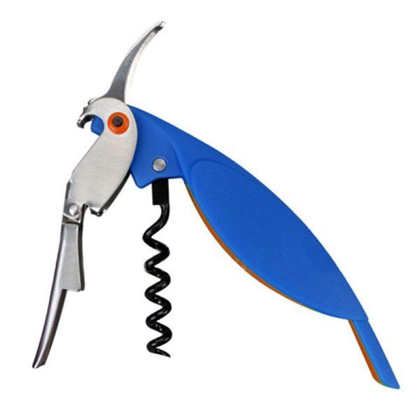 Tire bouchon perroquet bleu