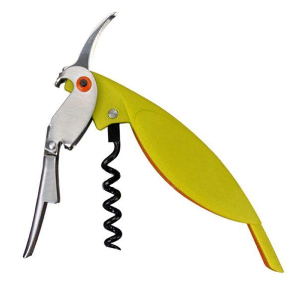 Tire bouchon perroquet jaune-vert