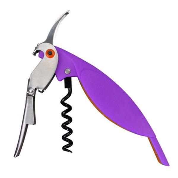 Tire bouchon perroquet violet