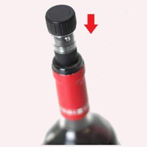 Bouchon noir vin plastique