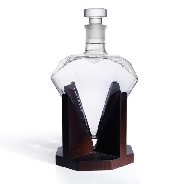 Carafe à whisky forme diamant