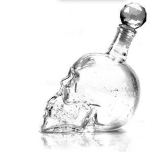 Carafe whisky crane tête de mort