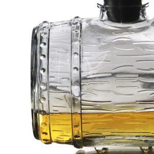Carafe whisky originale en forme de tonneau