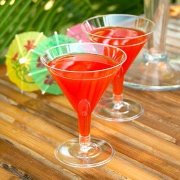 Verre cocktail plastique