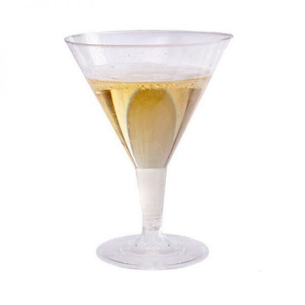 Verre cocktail plastique forme V
