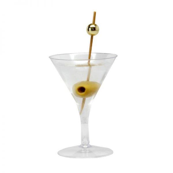 Verre cocktail plastique lot de 6