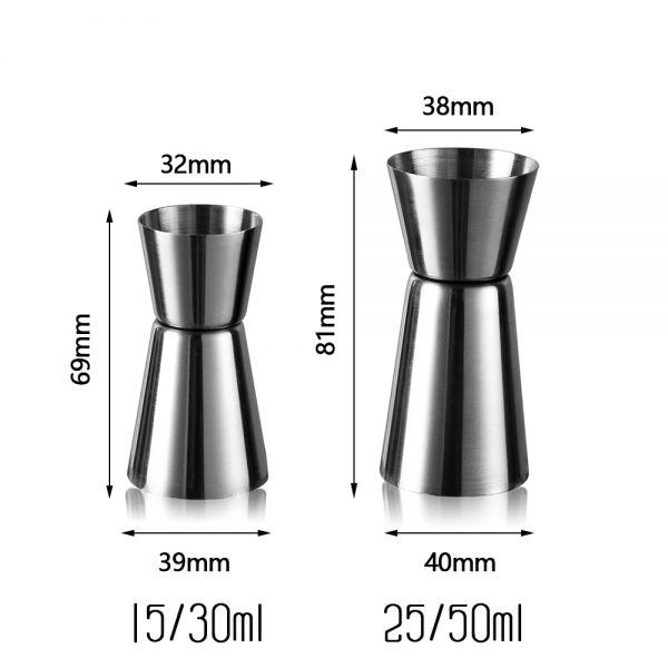 Verre doseur cocktail 15/30ml ou 25/50ml