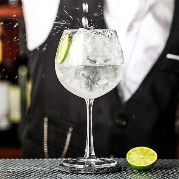 Verre gin tonic de dégustation
