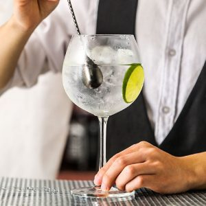 Verre gin tonic pour déguster