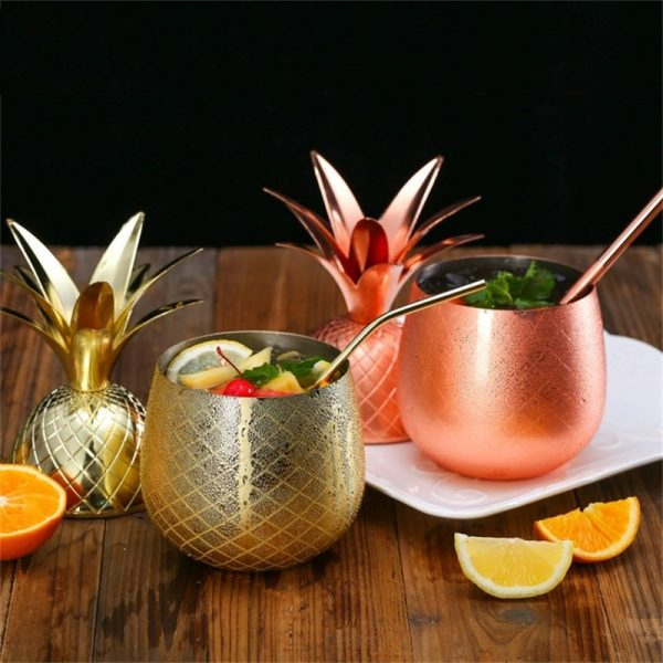 Verre ananas cocktail original
