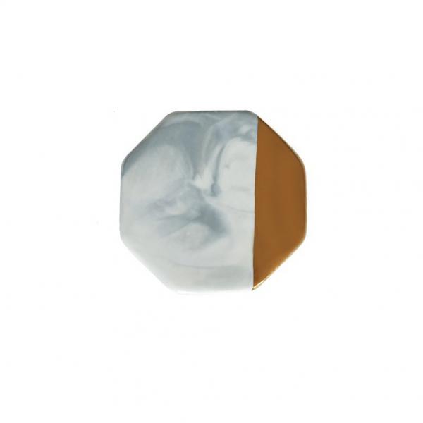 Dessous de verre ceramique octogonal