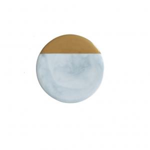 Dessous de verre ceramique rond