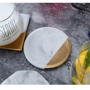 Dessous de verre ceramique style moderne