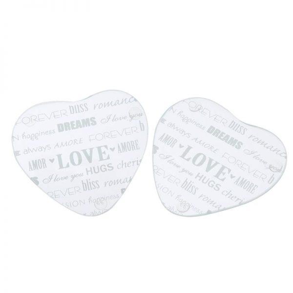 Dessous de verre forme coeur