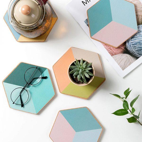 Dessous de verre forme hexagonal