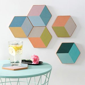 Dessous de verre hexagonal