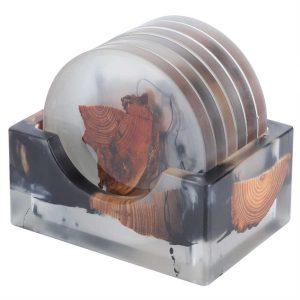 Dessous de verre nature avec présentoir