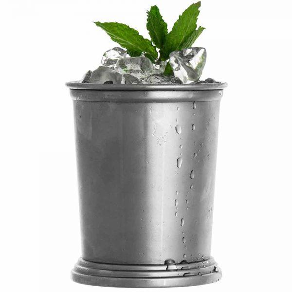 Verre acier inoxydable gris argent