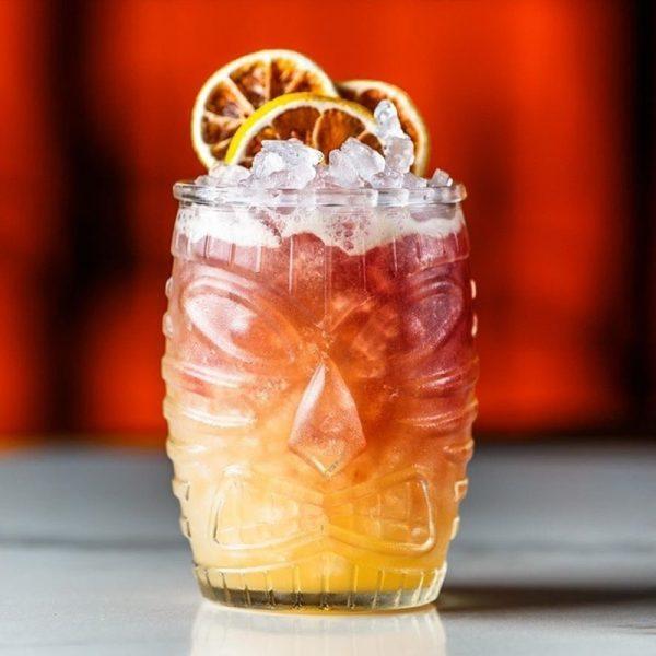 Verre cocktail tiki en verre