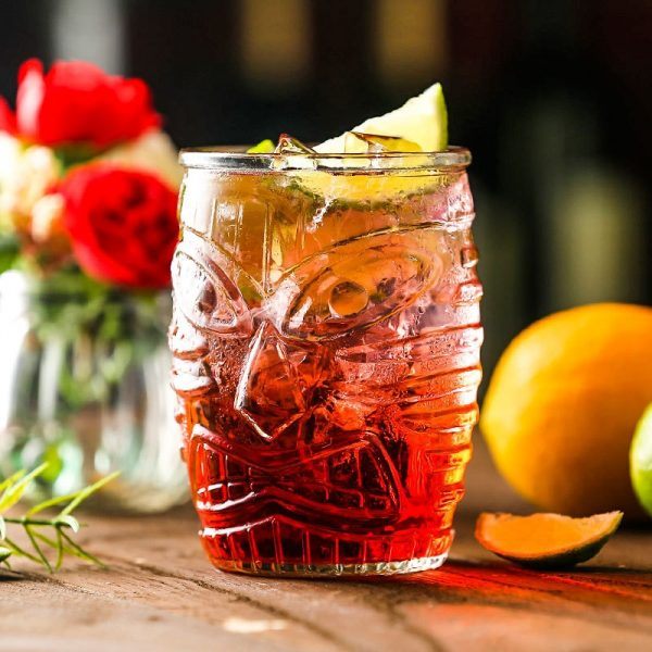 Verre cocktail tiki hawaien