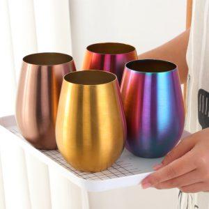 Verre en acier inoxydable 8 couleurs