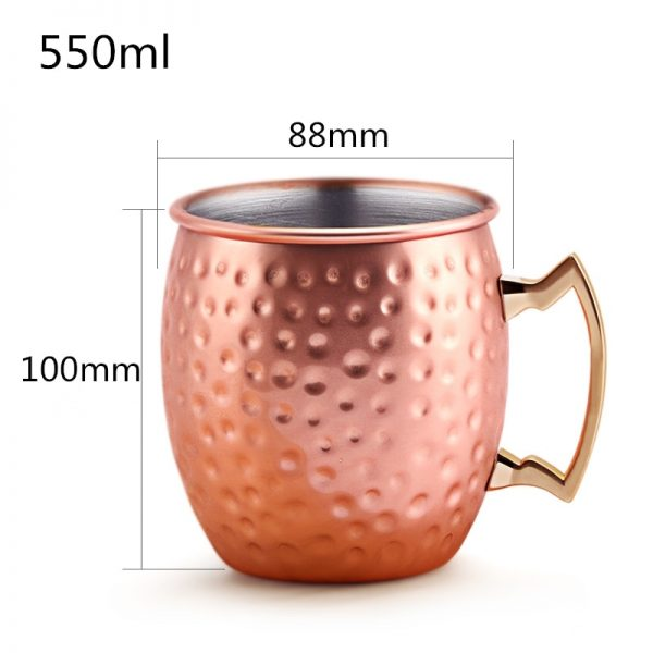 Verre moscow mule rose